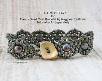 Bead Pack BB-77 Candy Bead Oval Bracelet - Tutorial from Reggie's Creations Sold Separately BB77