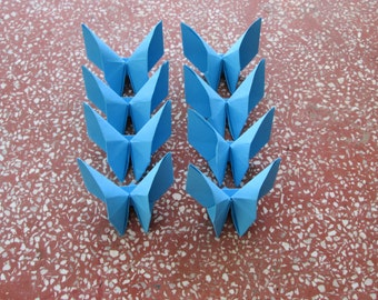 100 Paper Origami Butterfly- Blue Color (P 7), 4  x 4 inches (10 x 10 cm) only for  12.00 USD