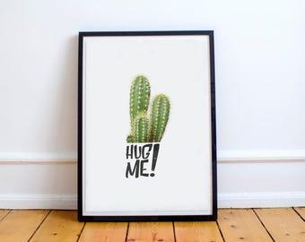 Cactus Poster - Cactus Illustration Print | Quote Print