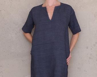Short sleeve dress with pockets, PDF sewing patterns for women, shift dress pattern, linen dress pattern, tunic dress pattern, boho festival