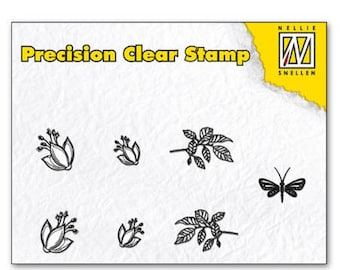 Stamp clear leaf/flower/Dragonfly 5, 5 x 3, 5 cm_APST023