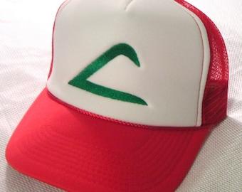ADULT Size Pokemon Costume Hat Ash Ketchum Original Trainer Hat Halloween costume cap