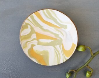 70's Neutrals Marbled Ring Dish