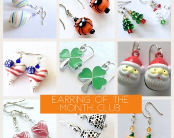 Earring of the Month Club, jewelry subscription club, gift subscription, monthly surprise box