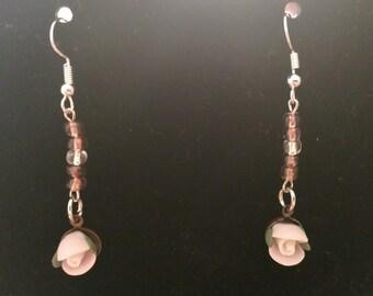 Soft Pink Dangling Earrings
