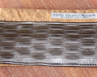 Cork and faux leather check book