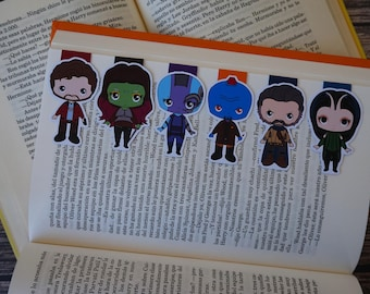 Magnetic Bookmarks - Guardians of the Galaxy, Star Lord, Gamora, Ego, Mantis, Yondu, Nebula, Marvel