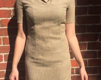 Beige 80s mini dress