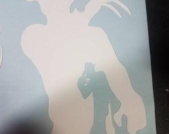 Freddy decal white vinyl