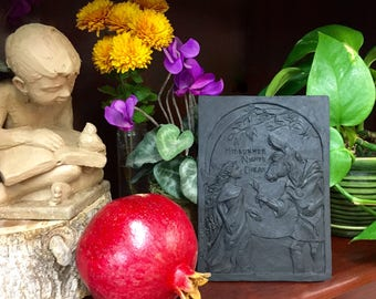 William Shakespeare A Midsummer Night's Dream Black Resin Bas Relief Sculpture Plaque