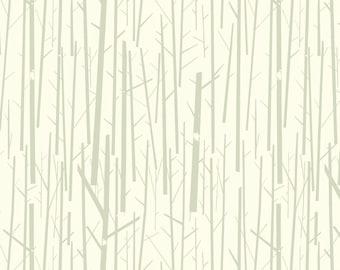 Perch in Cream - Charley Harper Western Birds - 100% Organic Cotton - Birch Fabrics - 1 yard