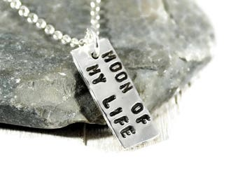 Sterling Silver Bar Necklace. Personalized Tag Necklace. Minimalist Jewelry. Layered Necklace. Anniversary Gift. Birthday Gift For Her