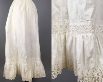 Antique victorian or edwardian petticoat