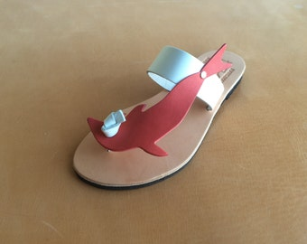 Genuine Leather Handmade Sandals US Size 5 to 11.. EU Size 35 to 41...WCO102... Free Shipping