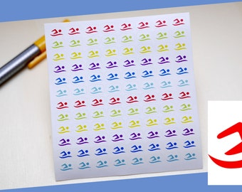 PLANNER STICKERS || swimmer || sport || small rainbow colored | sticker for your planner or bullet journal