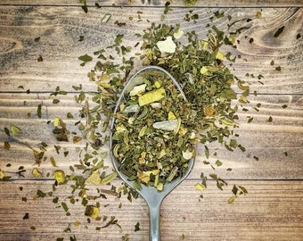 Sore Throat Loose Leaf Herbal Tea - Herbal Remedy Throat Coat - Clear My Throat Tea