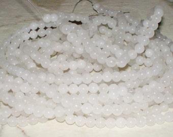 Snow Quartz Gemstone - 6MM