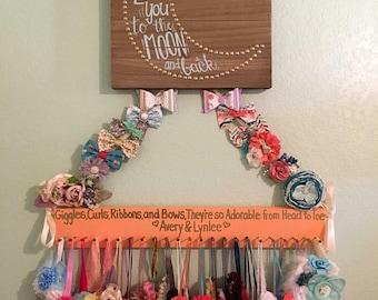 Coral Headband Rack, Headband Holder, Baby Accessories, Girls Accessories, Nursery Decor