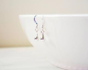 Silver Tear Drop Earrings, Rose Gold Tear Drop Earrings, Gold Tear Drop Earrings, Dainty, Minimalist, Modern, Bridal Earrings