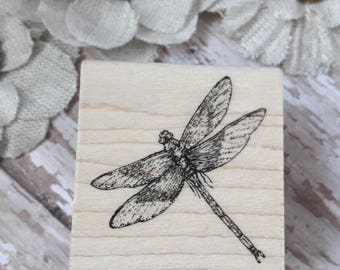 Dragonfly Wood Mounted Rubber Stamp Scrapbooking & Paper Craft Supplies