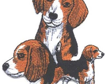 Embroidered BEAGLE Dog Breed Iron-on/Sew on Patch Badge Applique DIY