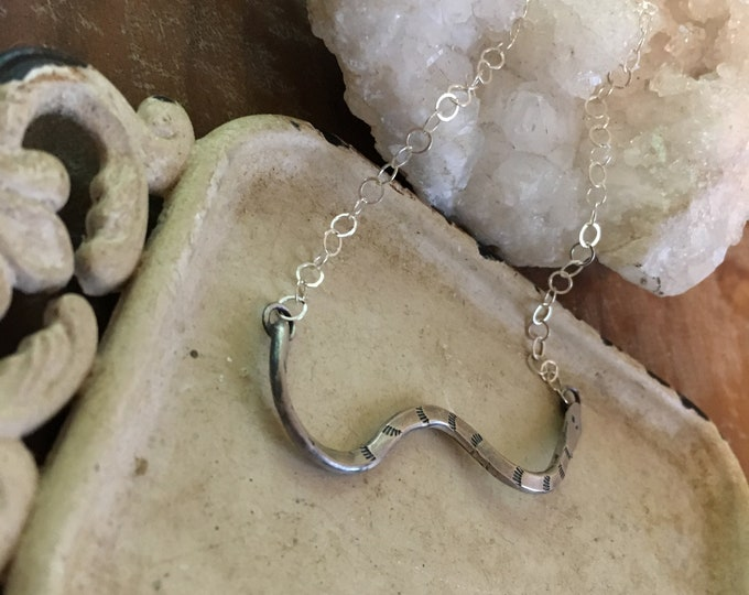 Serpent Necklace 1 (sterling chain)