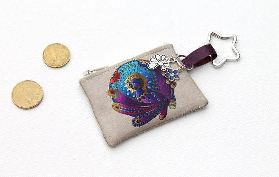 Keychains / mini illustrated lin purse
