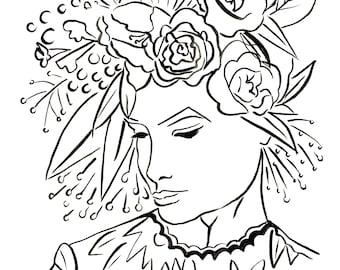 11x14 La Femme Fleur 3