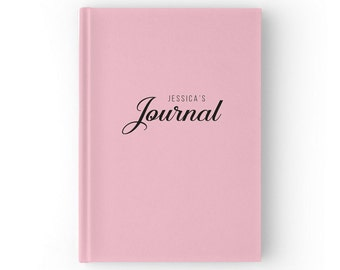 Pale Pink Custom Journal, Personalised Journal, Personalized Journal, Personalized Notebook, Personalized Gift, 5 x 7 inches