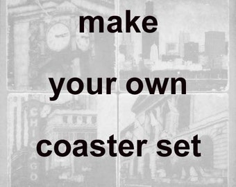 6 original coasters - Make your own coaster set