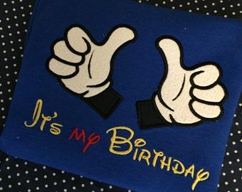 Birthday hands  shirt