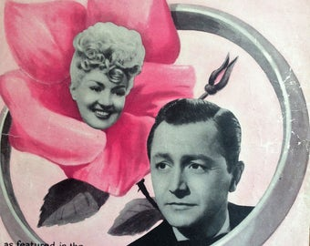 Sweet Rosie O'Grady sung by Betty Grable original sheet music