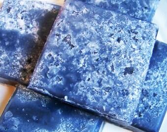 Salt Scrub Soap Bar Black Cherry - Soap Scrub, Solid Scrub, Exfoliating Soap, Dead Sea Salt, Mineral Salt, Glycerin Soap, Gift For Him, Teen