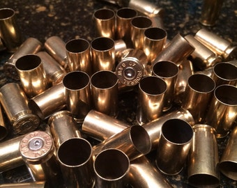 Polished .40 caliber used brass casings