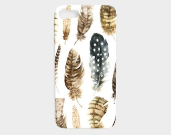 Feathers iPhone 6 Case - iPhone 7 Case - Boho Feathers iPhone 6 Case - Feathers iPhone 5 Case - Samsung Galaxy Phone Case