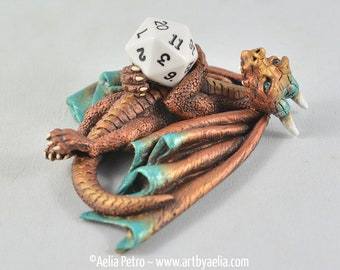 Bronze Dice Dragon - Custom Made PRE-ORDER Shipping in 4-6 Weeks