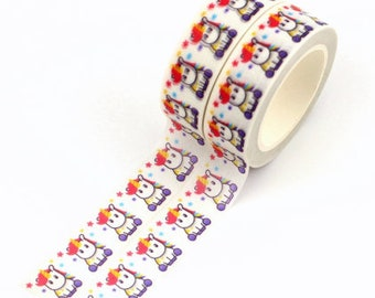 Unicorn & stars washi tape