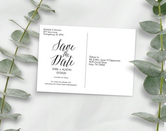 Postcard save the date, wedding save the date, postcard templates, DIY, simple wedding,inspirations, printable, save the date, post card, A1