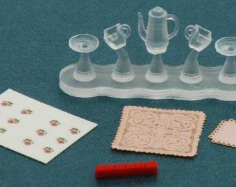 1:48 Tea Cart Accessories NEW! Dollhouse Miniatures