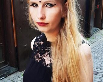 Black Headdress Gothic - Franciska
