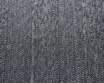 60 X48 Dark Charcoal Gray Striped Gabardine Fabric Remnant