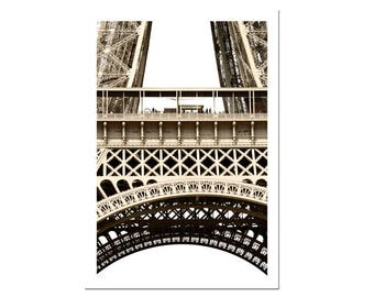 Paris Photography Eiffel Tower Photograph France Print French Architecture Sepia-C