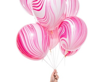 Pink Marble Balloons
