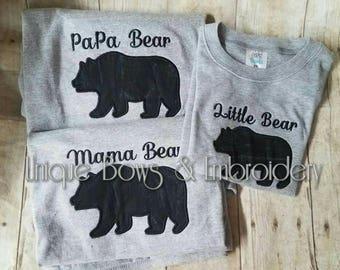 Mama Bear Papa Bear Baby Bear Brother Sister Man Cub
