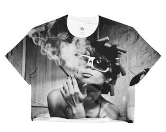 Marijuana Themed Ladies Crop Top-NGU Weed Shirts