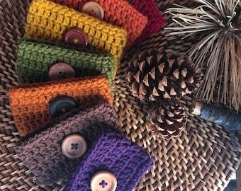 Fall Crochet Coffee Cozies
