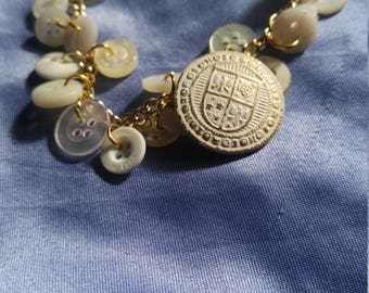 Family Crest Button Bracelet