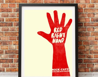 NICK CAVE - Red Right Hand / Peaky Blinders Poster