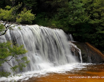 Wentworth Falls, Waterfall Photography, Serene, Peaceful, Home Decor, Wall Art 9X6 Photograph