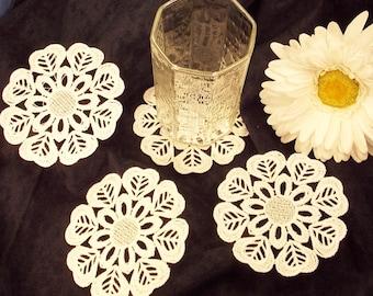 Lace Coasters; FSL Coasters; Wedding Coasters